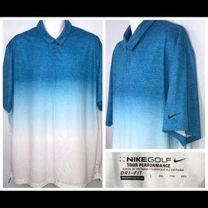 NIKE Golf Tour Performance Dri-Fit Polo Shirt 2XL
